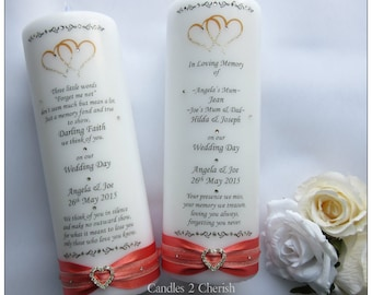 Wedding Memorial Candle - Absence Candles - Wedding Candles