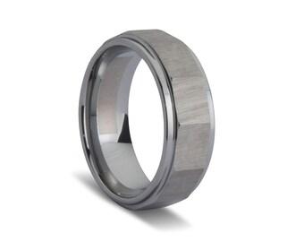Slated Brushed Men's Ring