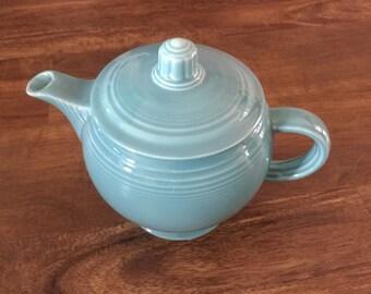 Vintage Fiesta teapot, Fiestaware, Homer Laughlin, Fiesta teapot, Turqoise Fiestaware