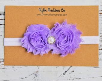 lavender vintage inspired headband