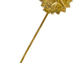 J I Case Plow Works advertising stick pin