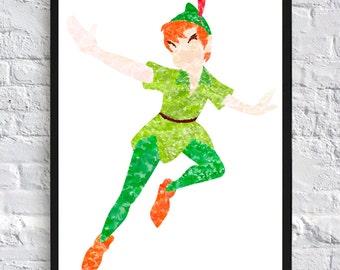 Peter Pan Watercolour - Framed