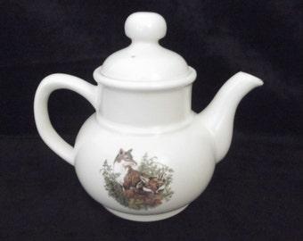 Vintage Fox Teapot,Carrigaline/Carrigdhoun Pottery, Vintage Irish Teapot, Made in Ireland