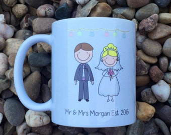 Personalised Wedding Mugs