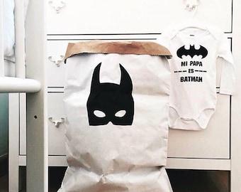 Bat Mask (simple) Paper Storage Bag