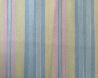 Sweet Escape in French Ticking by Verna Mosquera fabric by the yard VM03 Aqua