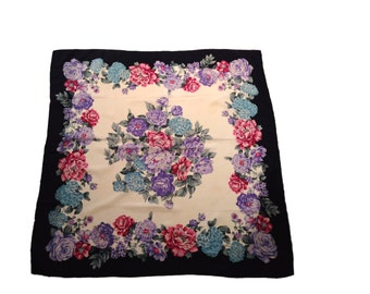 SALE: Made for Liberty Floral Silk Scarf
