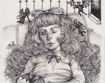 The Witching Hour Original A5 Piece