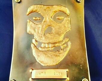 Custom made misfits crimson ghost tig brazed art.