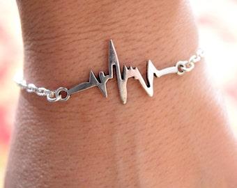 Heartbeat Bracelet/Heartbeat Charm Bracelet/Nurse Jewelry/EKG Bracelet/Charm Bracelet/Doctor Jewelry/Medical Professional/Medical bracelet