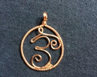 Mini Wire Om Symbol Pendant