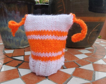 orange and white stripy little jester hat