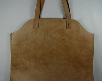 Over-size natural leather tote bag 50 X 50 CM