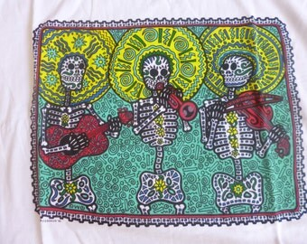 Cotton night shirt, XXLarge t-shirt, Halloween costume skeleton band.