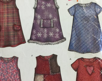 New Look 6208 Girls Summer Jumper Dress and Purse Sewing Pattern