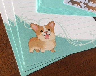 Corgi Stationery Set