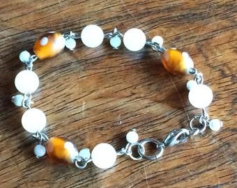 3935 - Pearl, quartz, glass Bracelet