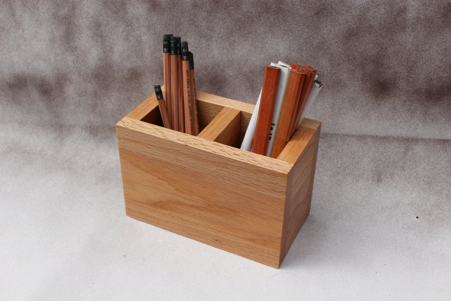 Wood desk organizer office desk caddy pencil holder - Wood desk organizer ...