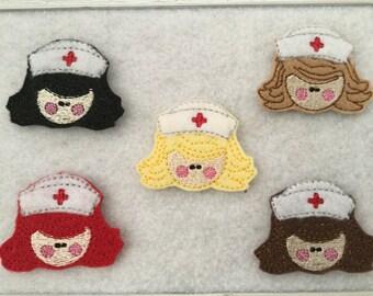 Nurse Feltie, Always Precut  Choose the Haircolor