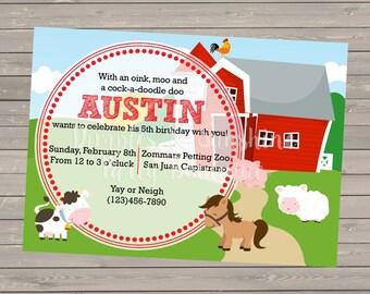 DIGITAL Farm Theme Invitation