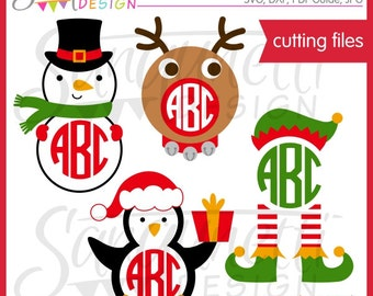 Christmas svg, Christmas Monogram svg, Christmas svg files, svg files for cricut, Cutting Files, Svg File, Paper Piecing, Sure Cuts A Lot
