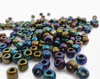 30g Size 6/0 Miyuki Iris Seed Beads 3mm x 4mm