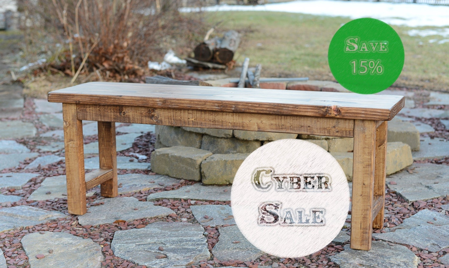 Cyber Sale 48 Inch Wood Bench Entryway Bench By