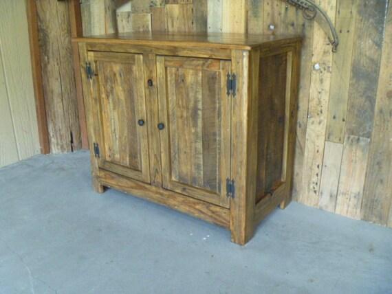 Reclaimed Pallet Wood Vanity Nightstand End Table Recycled