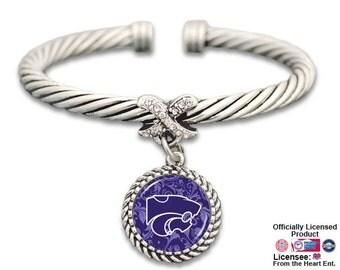 Kansas State Wildcats X Bangle Bracelet