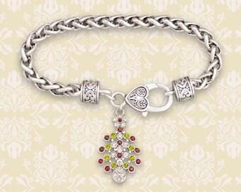 Christmas Tree Braided Clasp Bracelet - 51251