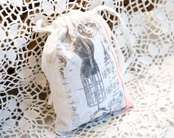 Vintage Lavendelsäckchen - Scents Home Decor - Scented Sachet bags - linen lavender bag - wedding favor