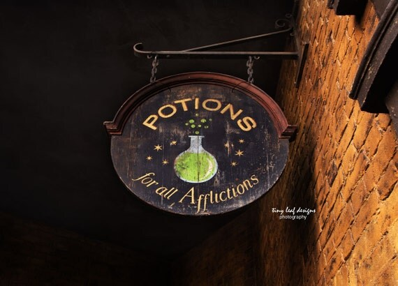 Potions Sign Original Photograph