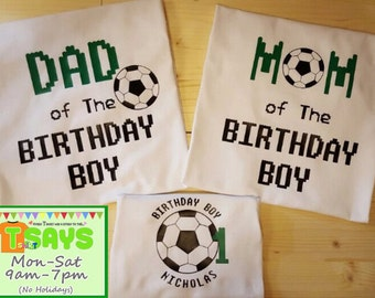 Soccer ball birthday shirt for family