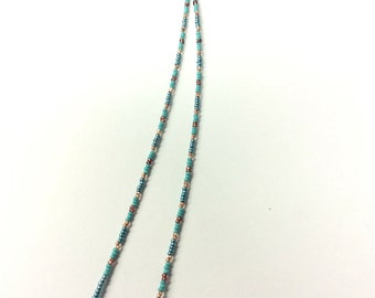 Native American Beaded Hair Clip with Charms- Hair Decoration- Barrette- Seed Beads