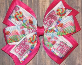 Candyland Hair Bow / Candyland Bow / Candy Land Hair Biw / Candy Land Bow / Candy Land Bows / Candy Land Party / Candyland Bows / Candy Land