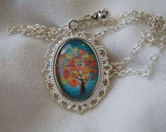 Tree Cameo Pendant Necklace (Version 6)