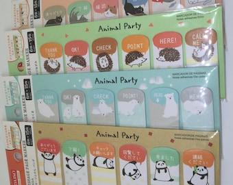 Cute kawaii animals message page markers/stickies/mini post-its