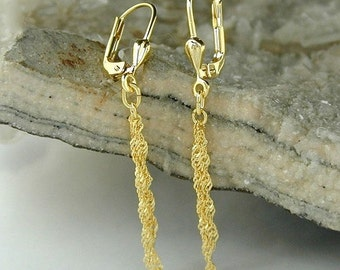 Very delicate earrings, 8K GOLD