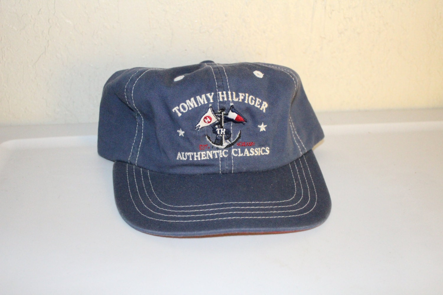 0d45c85b869 Vintage 90 s Tommy Hilfiger Authentic Classic Strapback Hat by Tommy  Hilfiger