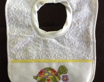 Painted Turtle baby bib