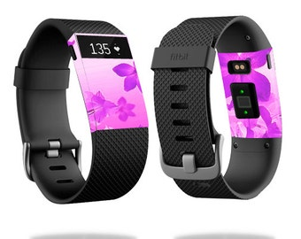 Skin Decal Wrap for Fitbit Blaze, Charge, Charge HR, Surge Watch cover sticker Pink Flowers