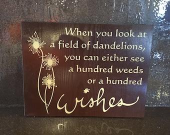 Dandelion sign