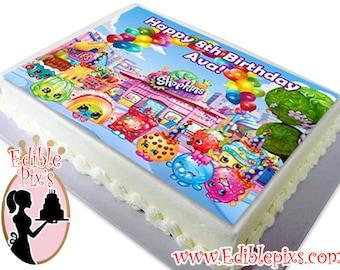 Shopkins Edible Image Cake Topper by Edible Pix's