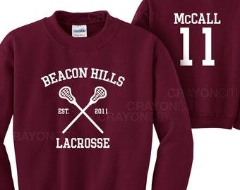 Teen Wolf Beacon Hills Lacrosse Sweatshirt McCall 11 Sweatshirt
