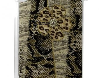 Woman Ipad case cover, Ipad case cover for me, Leopard design for him, Debbie Brooks Ipad 3 case/cover, Crystal Safari, crafting supplies