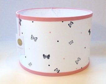 Cute Ceiling Lampshade, Lampshade with diameter 35 cm, butterflies