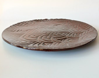 Handmade Ceramic Platter , Serving Platter , Ceramic Tray , Serving Dishes ,Housewarming gift, Candle tray