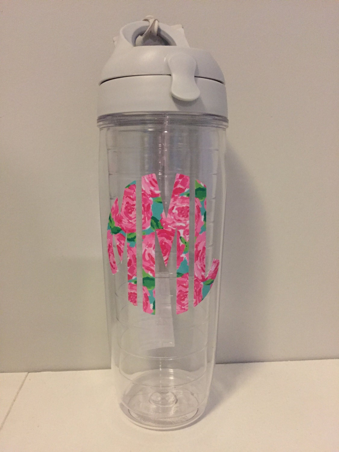 Lilly Pulitzer Inspired Monogrammed 24 Oz Tervis Water Bottle