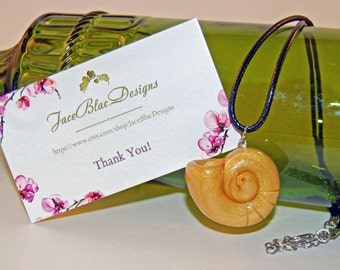 Ursula The Sea Witch Inspired Necklace, Glitter Gold Seashell Polymer Clay Ursula Necklace