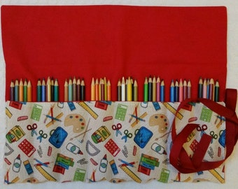 The Rollup Sewing Tools Roll Organizer, Accessories, Pencil Roll, FREE SHIP Art Supplies, Pencil Roll With Flap